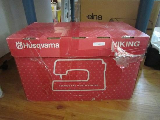 Husqvarna Viking Sewing Machine Designer 1 w/ Case, Pedal, Accessories