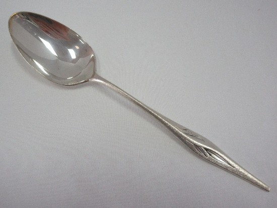 Tablespoon/Serving Spoon Wallace Sterling Dawn Mist Burnished Top/Side Handle +-80.5G