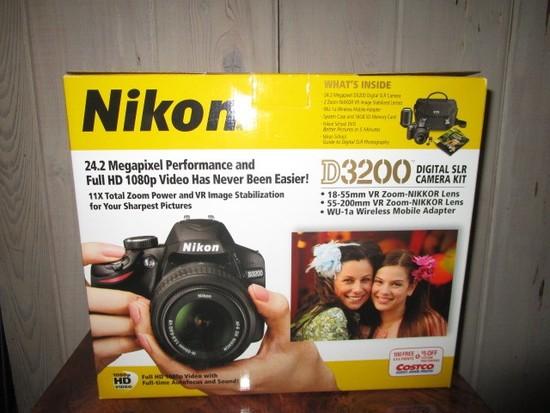 Nikon D3200 Digital SLR Camera Kit, Includes 24.2 Megapixel D3200 Camera