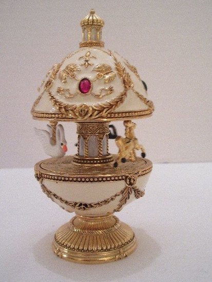"""Faberge Style Egg Imperial Treasures III Collection by Joan Rivers """"The Carousel Egg"""""""