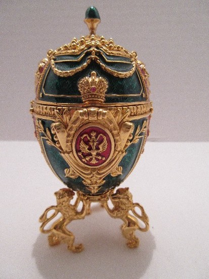 """Faberge Style Egg Imperial Treasures III Collection by Joan Rivers """"The Angel Egg"""""""