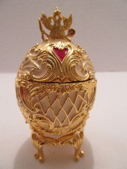 """Faberge Style Egg Imperial Treasures II Collection by Joan Rivers """"The Musical Palace Egg"""""""