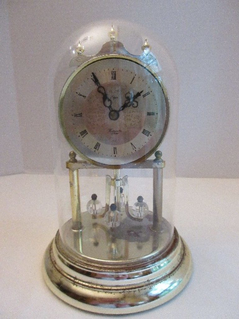 Elgin Anniversary Clock w/ Westminster Chime Roman Numeral Face