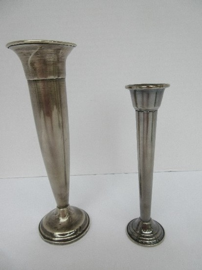 "Lot - Towle Sterling Weighted/Reinforced Base Trumpet 8"" Bud Vase"