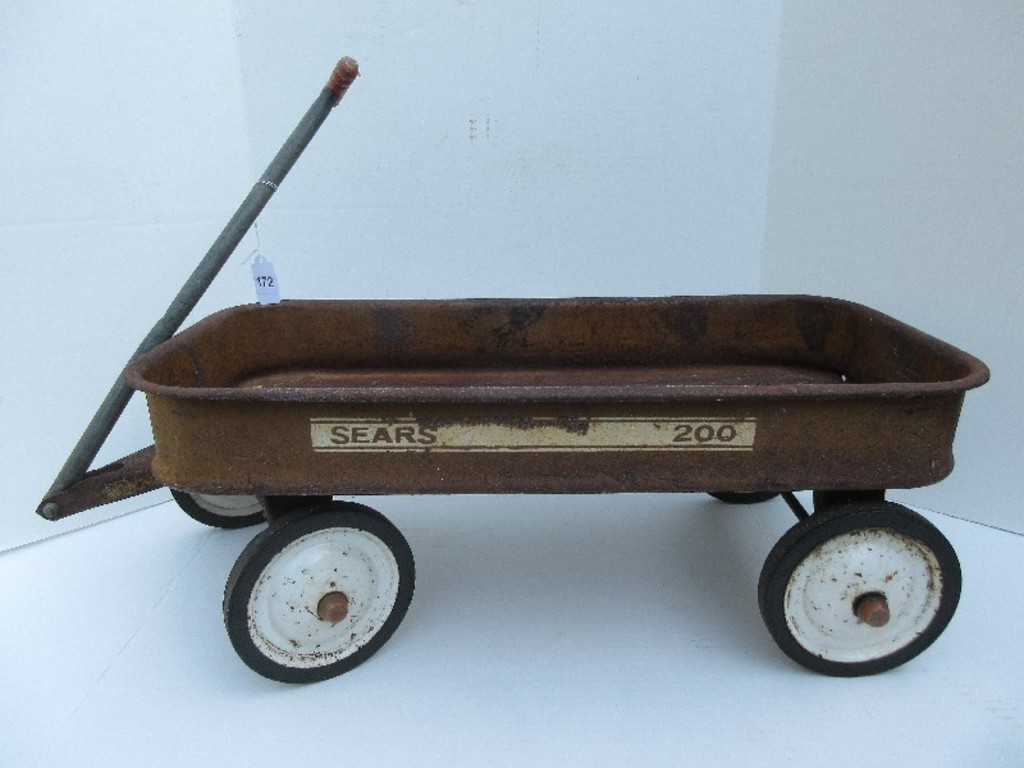 Vintage Sears 200 Little Red Wagon Art Antiques Collectibles Toys Hobbies Diecast Toy Vehicles Online Auctions Proxibid