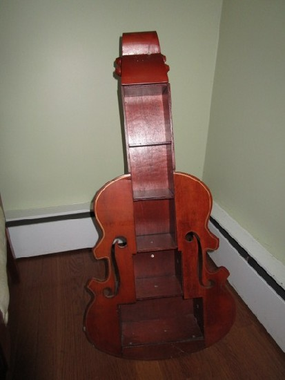 Wooden Cello 5-Tier Stand