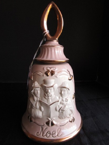 Jim Beam Distilling Co. Musical Ceramic Bell Design Decanter Gilted Trim