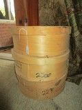 3 Wooden Cheddar Cheese Wheel Boxes