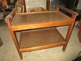 2 Tier Wooden Shelving w/ Handles