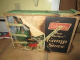 Vintage Coleman Two Burner Camp Stove in Box