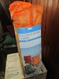 Lot - 5 Folding Chairs Green/Orange Colored w/ Cases