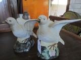 Pair - Dove Ceramic Shelf Décor