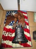 American Legend Floor Rug Liberty Bell Design 100% Acrylic Fiber Pile