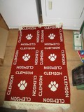 Clemson Tigers Motif/Pattern Floor Rug