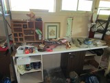 Lot - Contents of Table Top, Nails, Tools, Wires, Etc.