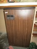 Vintage General Electric Wooden Veneer Mini-Fridge