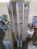 Pair - Metal Crutches