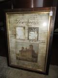 Serenada Musical Wall Décor in Wood Frame/Matt Antique Patina, Ornate Trim