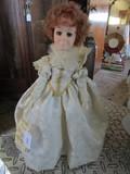 Effanbees 'Woman of The Ages' Queen Elizabeth Ceramic Head, Plastic Hands, Cloth Body