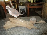 Wood Carved Birds on Beach Wood Branch