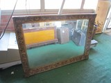 Wall Mounted Mirror w/ Wood Berry/Foliate Design Frame/Matt