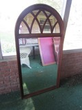 Wall Mounted Ethan Allen Mirror Arched/Lattice Top Design