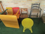 Lot - Wooden Child's Table w/ 4 Child Chairs