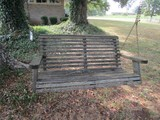 Hanging Wooden Swinging Bench on Chains