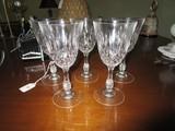 5 Crystal Glass Wine Glass Diamond Prescut Design