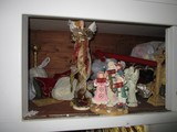 Christmas Lot - Contents of Cabinets, Christmas Décor, Figurines, Wreaths, Etc.