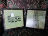 2 Wall Mounted Colosseum/Pisa Wooden Prints