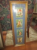Bath Long Picture Print in Wood Ornate Gilted Frame/Matt