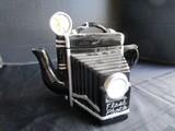 Ceramic Vintage Camera Design Cookie Jar w/ Handle
