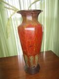 Vintage/Antique Design Standing Vase Red/Brown