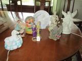 Misc. Décor Lot - Musical Children Ceramic by Himark, Elephants, Angel Ceramic