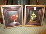Georgian Girl/Boy Print Picture Pairs in Gilted/Wooden Frames/Matt