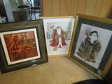 3 X-Mas Print Pictures in Misc. Frames/Matt,