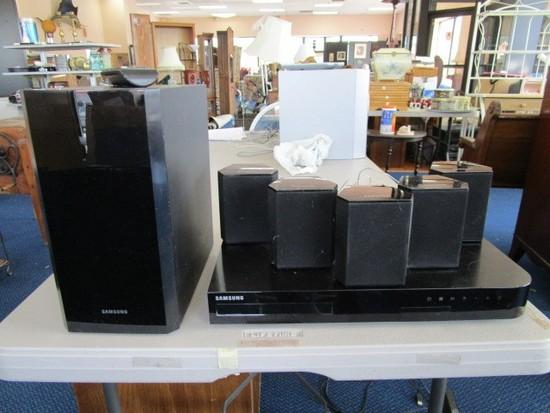 Samsung Speaker Lot - 5 Speakers w/ 1 Subwoofer w/ Samsung Blu-Ray 3D Player