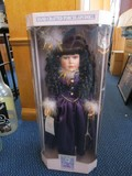 Collectible Porcelain Dolls Memories Porcelain Doll in Purple Dress in Original Box