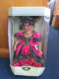 Collectible Memories Genuine Porcelain Doll in Box Red Sequin Box