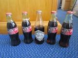 5 Coke Classic Bottles Dale Earnhardt Tribute