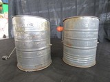 2 Bromwells Measuring Sifter, Vintage Tin Metal