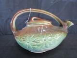 Vintage McCoy Ceramic Leaf Motif/Glazed Teapot