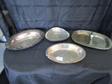 Silverplate Lot - Triangle Dish, Oval Dish, Divided Server w/ Handle