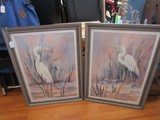 Pair - Silent Watch I&III Picture Prints in Antiqued Patina Wood Frames/Matt