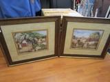Pair - La Seyne Sur Mer Petite I&II Picture Prints Lithographs