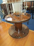 Wooden Wheel Stool, 3 Block Legs
