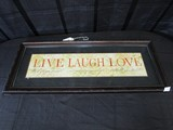 Live Laugh Love Glass/Wood Frame Wall Décor