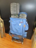 Kelty Blue Hikers Bag w/ Straps, Metal Backing, Etc.