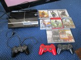 PlayStation 3 Game Console 64 GB w/ 3 Controllers w/ HDMI Wires/Power Cords & Games